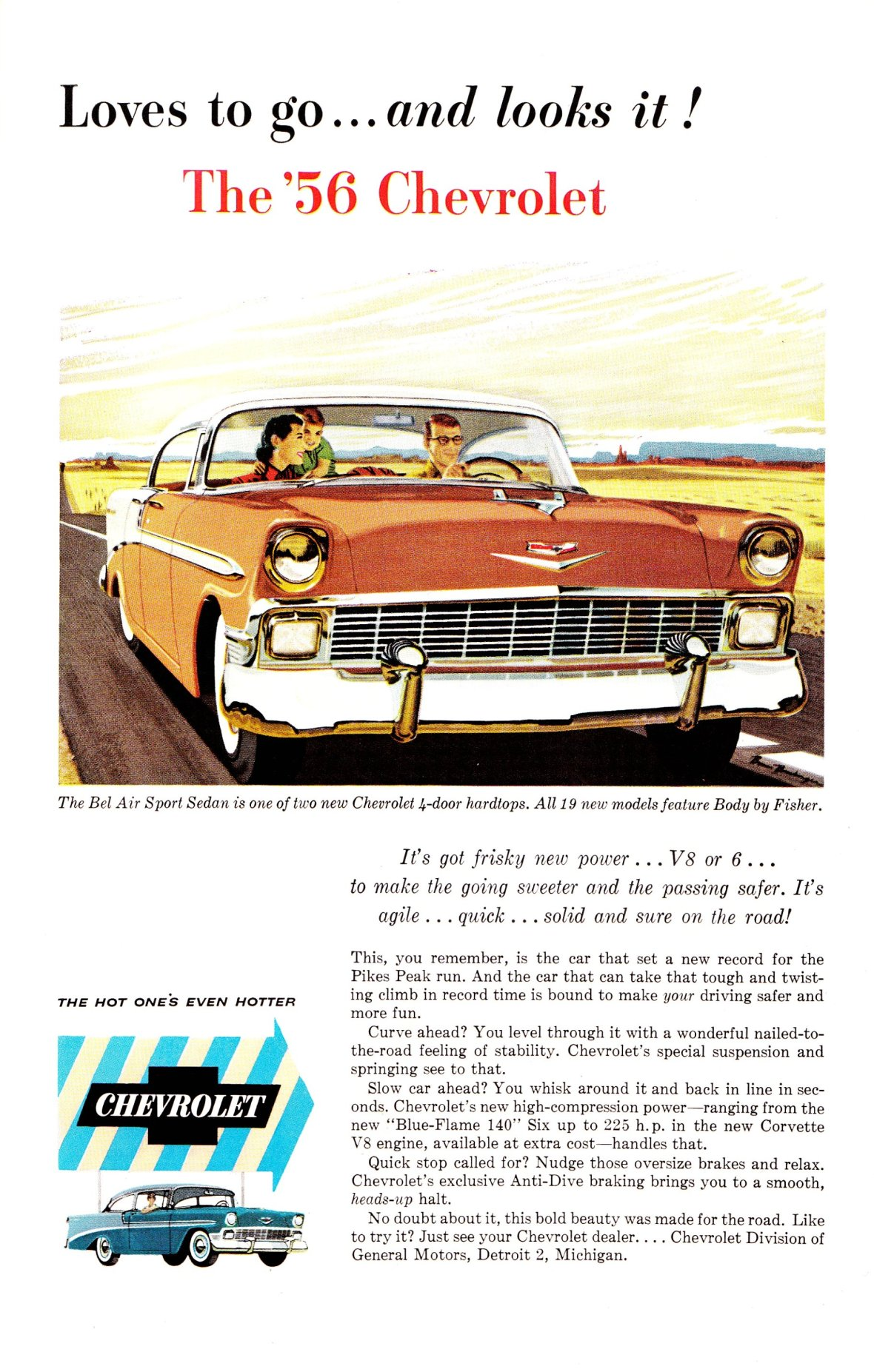 1956 Chevrolet Bel Air Sport Sedan - published in National Geographic - March 1956