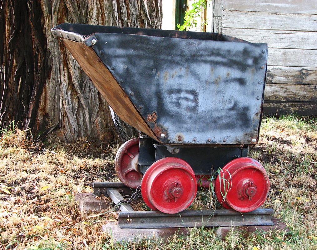 Historic Coal Mine Car An Old Mine Cart Probably Used