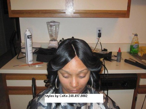 Invisible Part Quickweave No Hair Left Out Natural Part