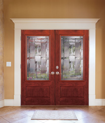Feather River Door Fiberglass Entry Doors Mahogany Doubl
