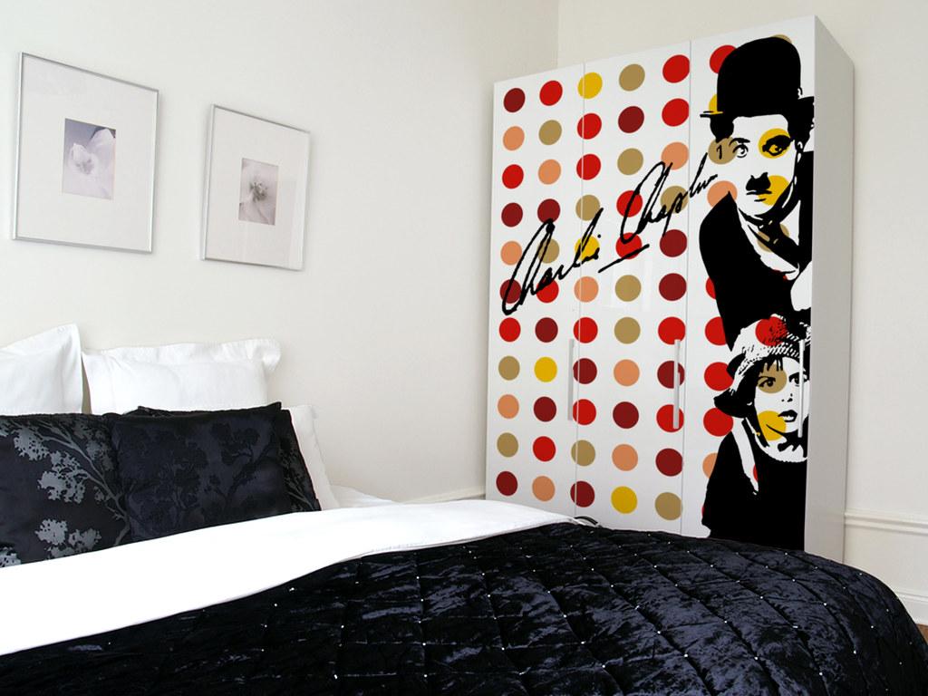 Bedroom Chaplin Pop Art Furniture Coating