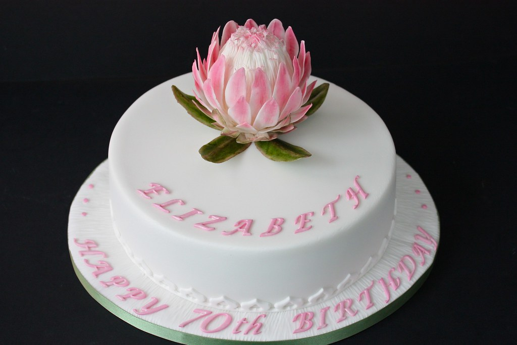 Protea Birthday Cake Here S The Finished