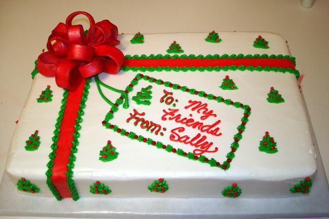 Sheet Cake Ideas Christmas Decorating