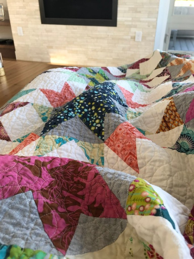 Wedding quilt - crinkles