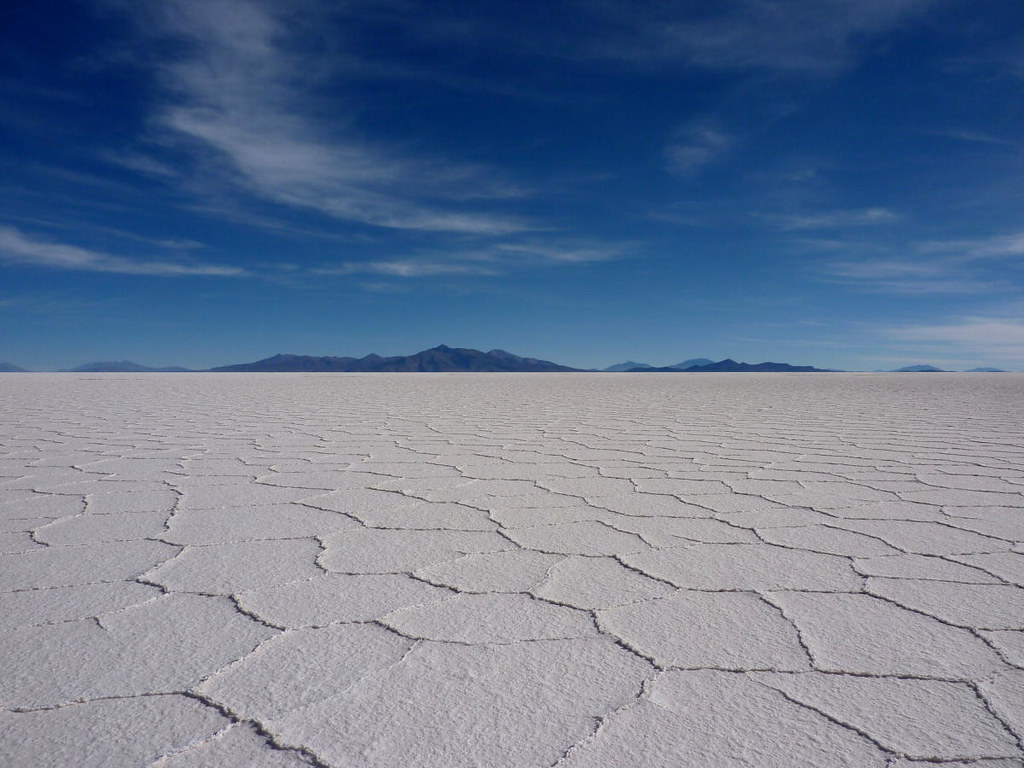 Worlds Largest Salt Flat In Bolivia A Panoramic View Of