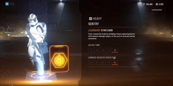 Star Wars Battlefront 2 - Heavy Sentry Legendary Star Card