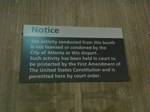 Atlanta Airport Free Speech Zone