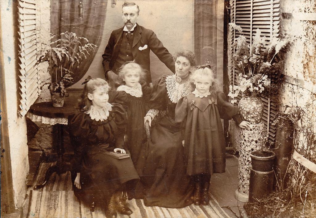 Victorian Family With Three Girls Ulverston Cumbria