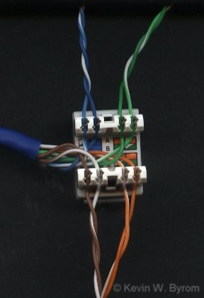 RJ45keystonejackwired | RJ45 ether keystone jack