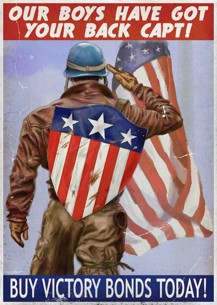 Captain America ITSO WW2 Propaganda Based On The Recentl Flickr