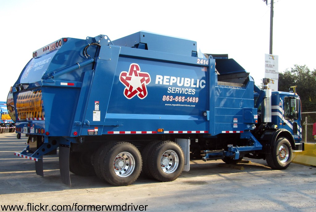 Republic Services Truck Waste