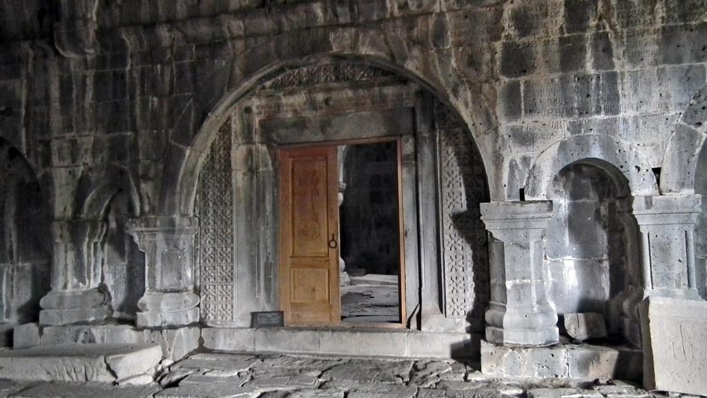 Iglesia portada entrada Monasterio de Sanahin Armenia Patrimonio Humanidad 06
