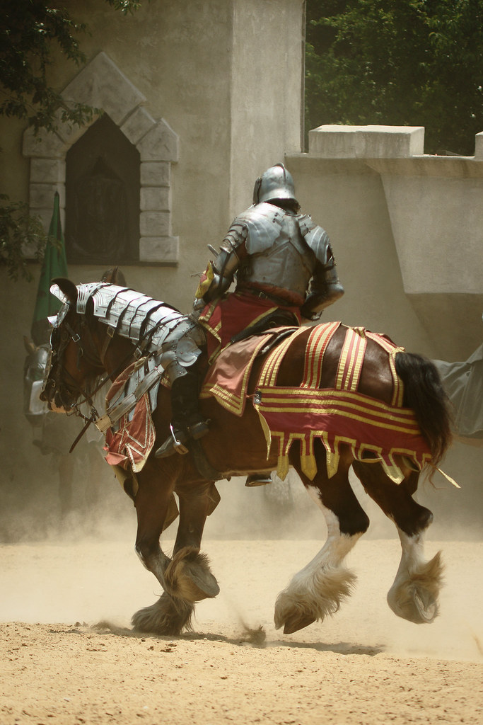 White Knight Armor Horse