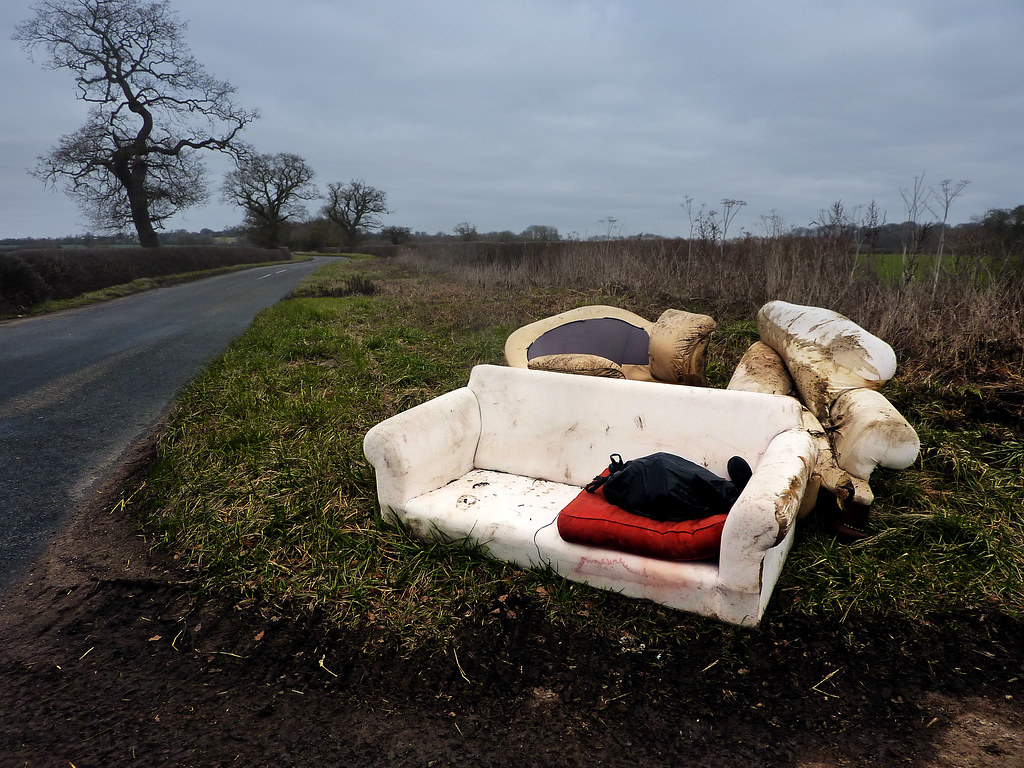 Fly Tipping A Sofa And Armchairs Some Rotten Scoundrel