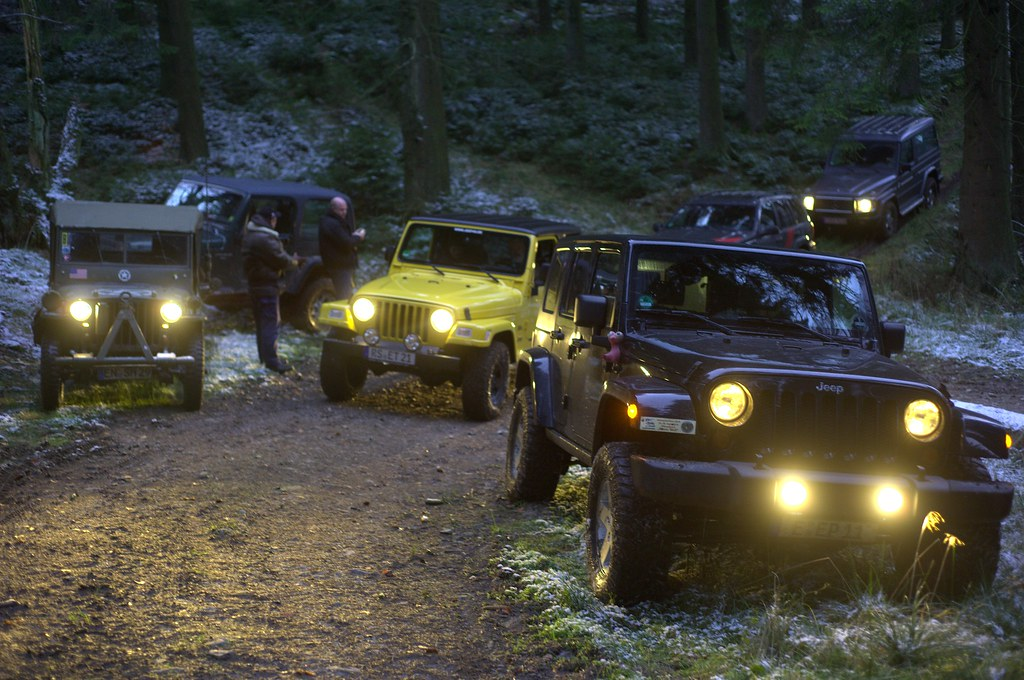 Christmas Toy Jeeps At Night From Our Local Jeep Club
