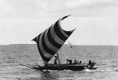 Moro Vinta boat, Zamboanga, west Mindanao Island, south Ph ...