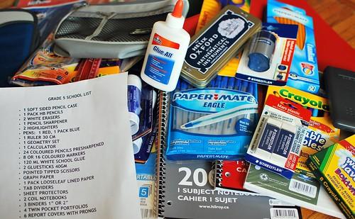 school stuff, supplies for kids, craft school materials