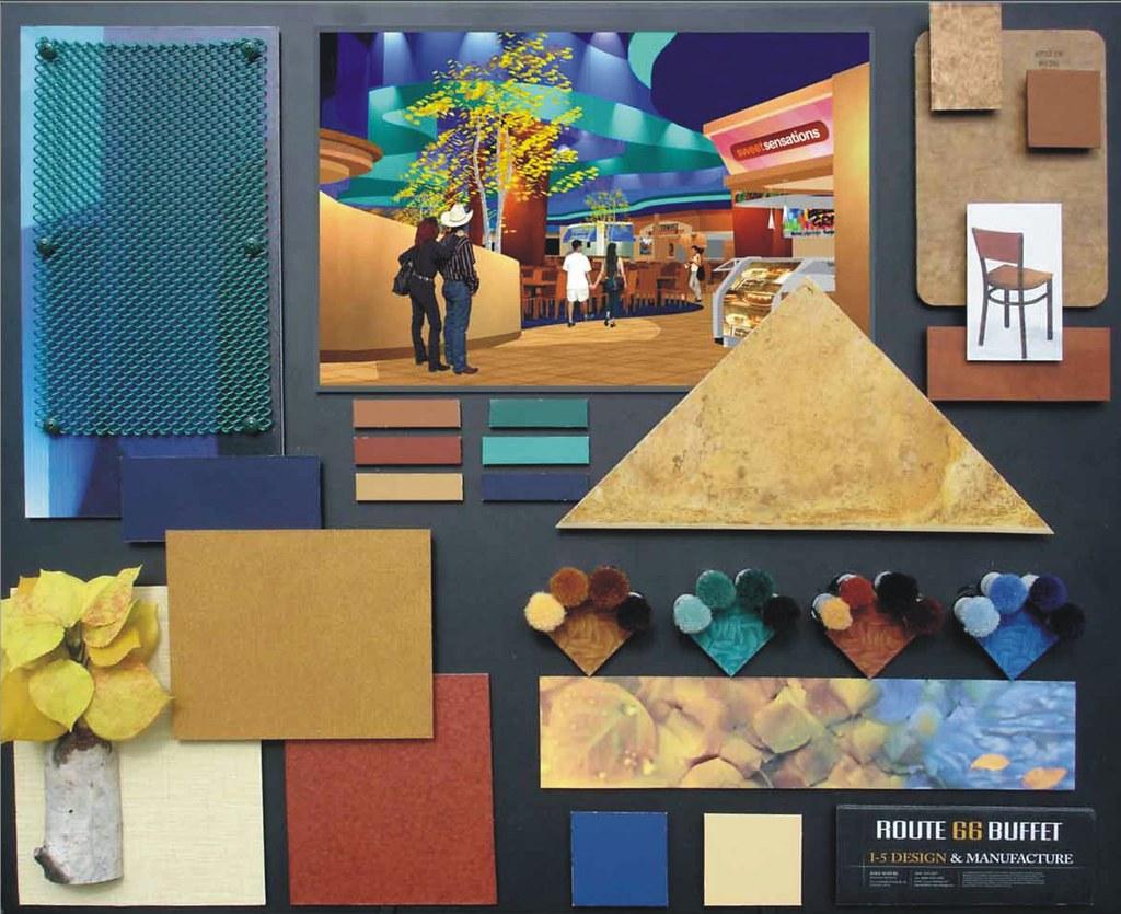 Casino Buffet Colorboard Specialty Finish Material Board
