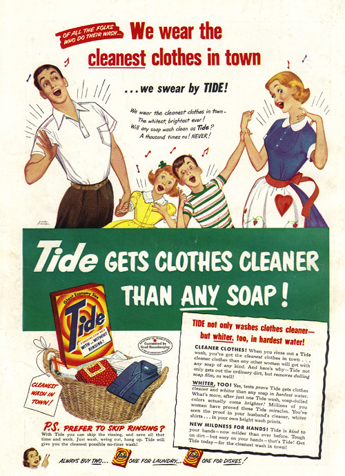 Product Cleaning Ads 1950s