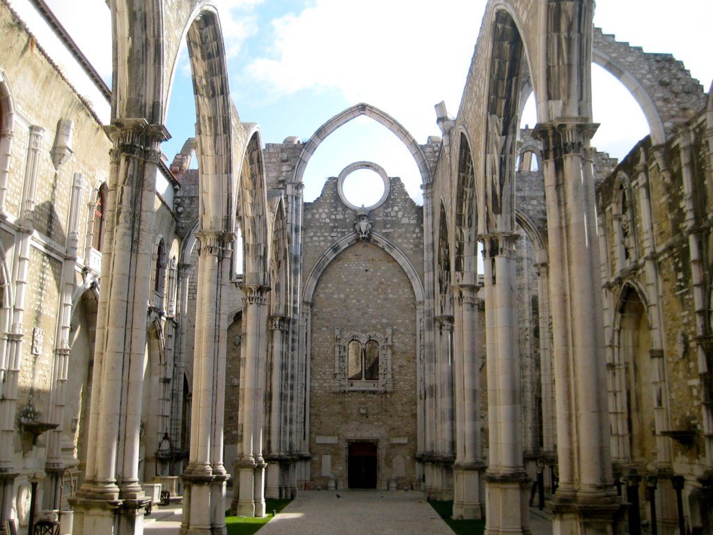 Ruined Cathedral From The Big Earthquake In Lisbon 1755