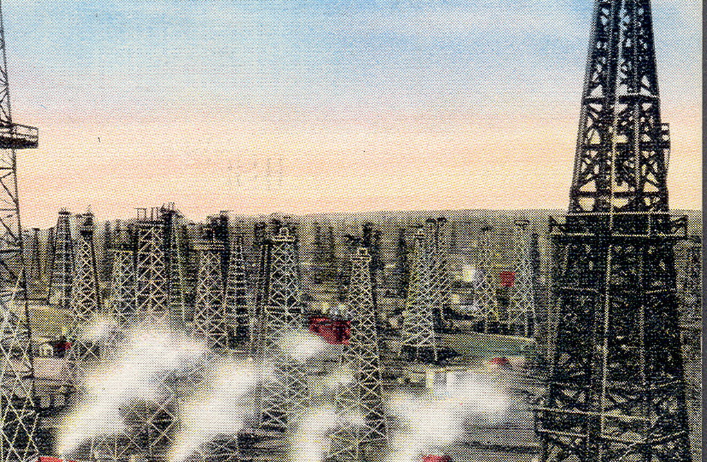 Long Beach CA Oil Field Oil Wells Discovered 1921 At The F