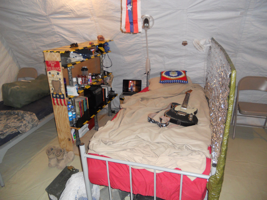 New Afghanistan Fob Tent After The Green Box At The