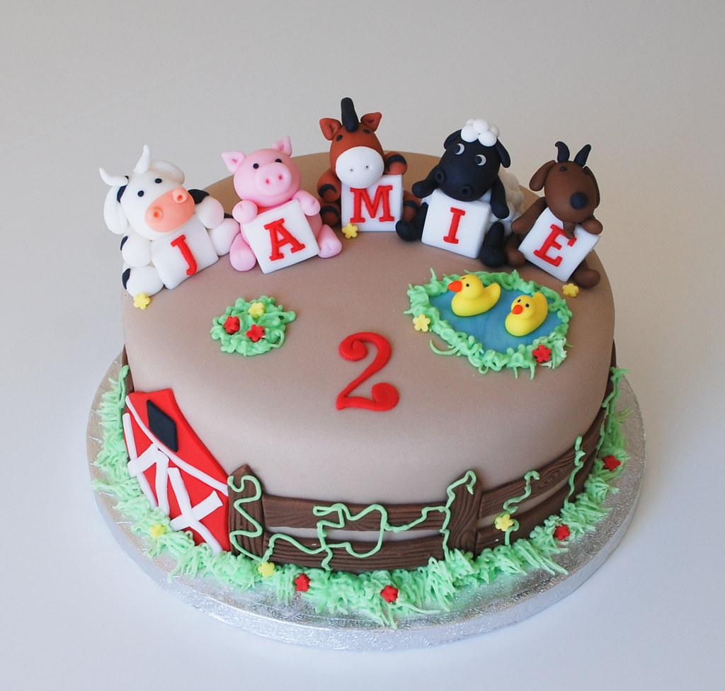 Farm Animal Birthday Cake