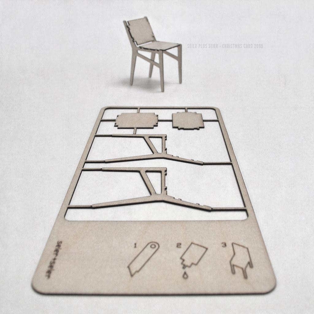 Seierseier Plywood Chair Christmas Card 2009 1 Mm Birch