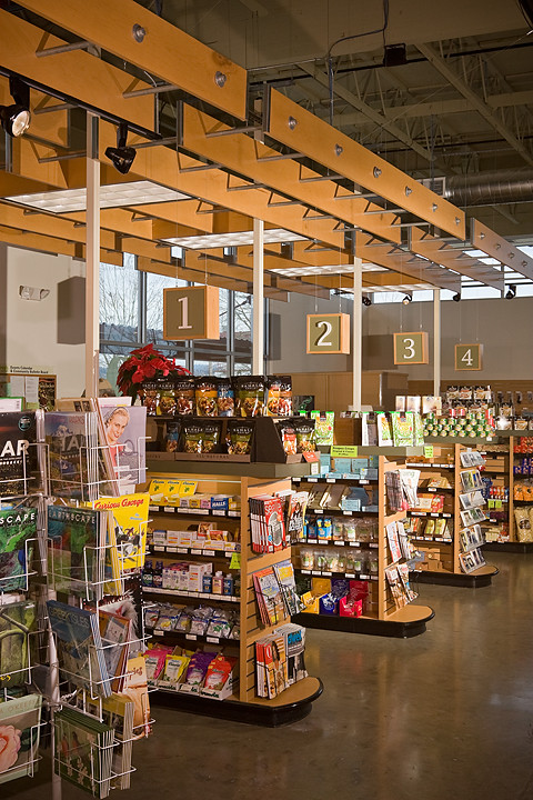 Supermarket Checkstand Area Check Out Stand Hanging Wo