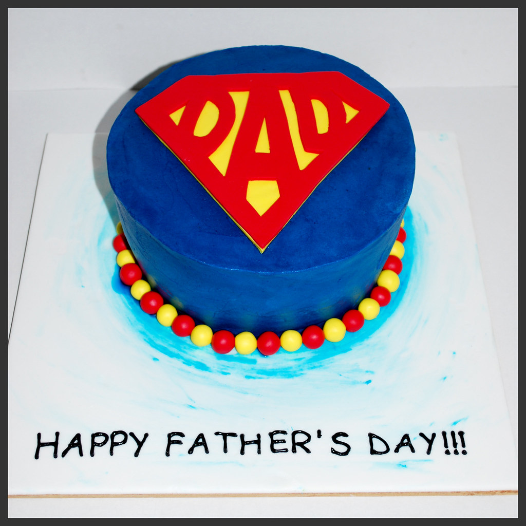 Superdad Father S Day Wonky Cake I Created This Cake For