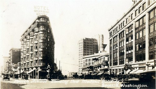 Westlake Avenue from 4th and Pike, Seattle, 1926