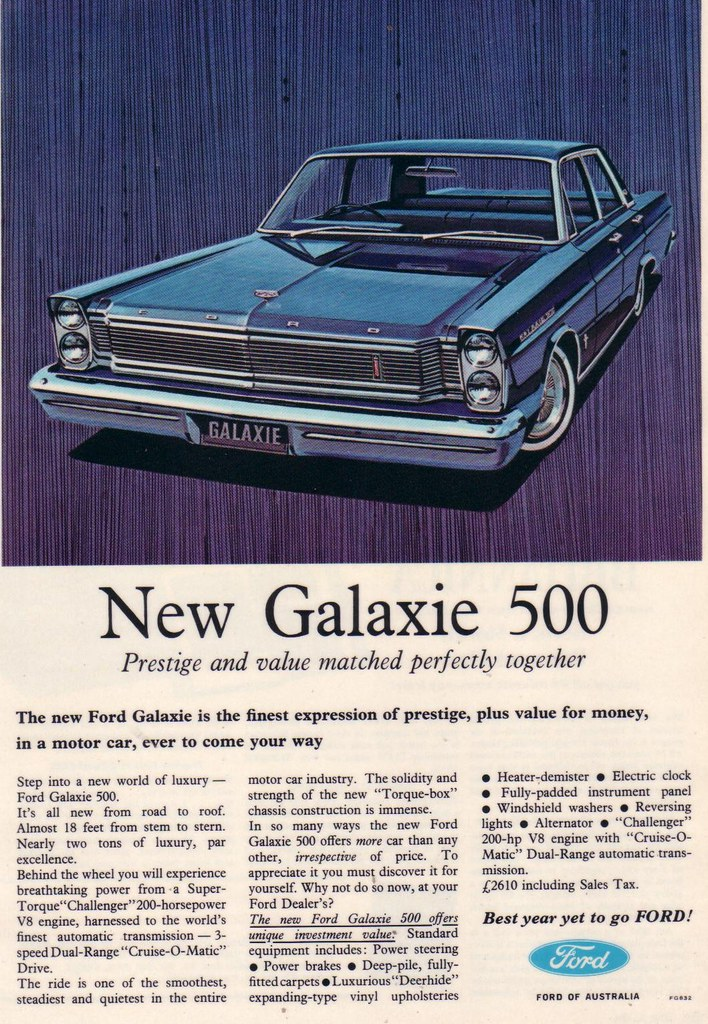 1965 Ford 500 Interior Galaxie