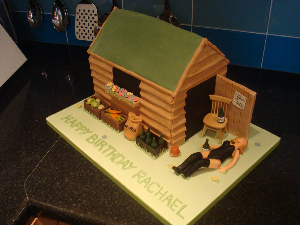 Shed Cake The Brief For This 40th Birthday Cake Was