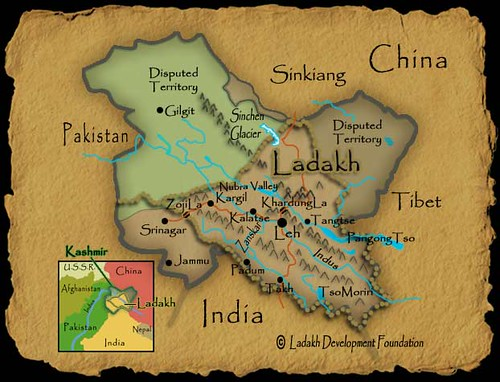 Map Of Ladakh View Large Size See Other Maps