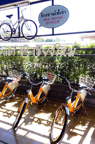 Bicycle Hire Station Chiang Mai Thailand