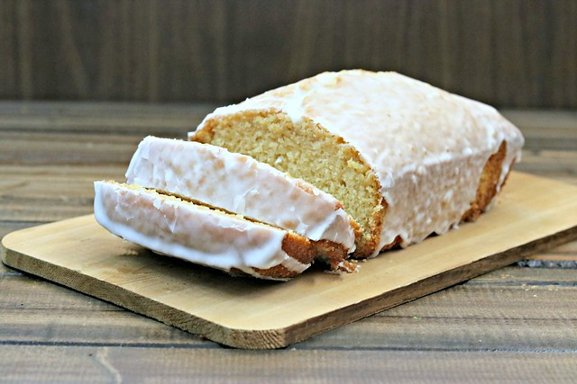 Champagne pound cake front