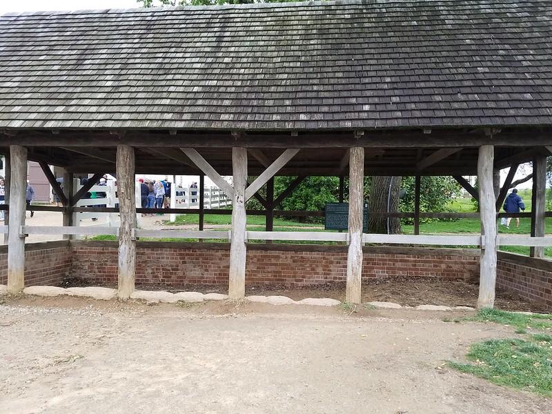 Manure pit at Mount Vernon