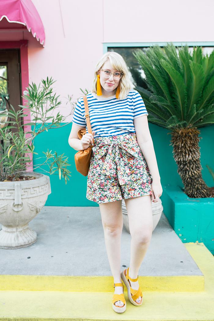 austin style blogger writes like a girl jcrew liberty floral shorts