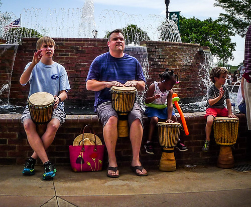 Drumming at the Greer International Festival-006