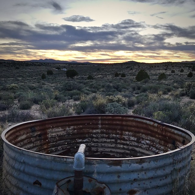 Water tank at Rock House on the Mojave Road