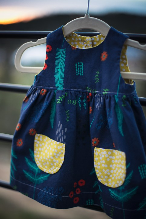 Newborn Geranium Dress