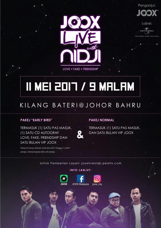 JOOX LIVE NIDJI Love, Fake, & Friendship LIVE Di Malaysia