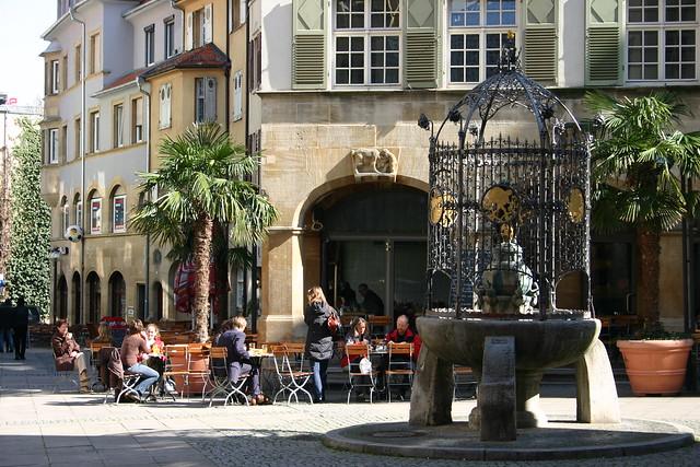 Stuttgart city center Hans-im-Glück-Brunnen
