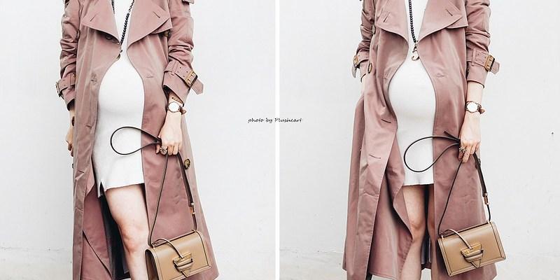 ▌Dressing the bump ▌ 媽馬愛風衣:Burberry乾燥玫瑰色風衣實穿+Gianvito Rossi plexi透明跟鞋+Loewe Barcelona + Hammock