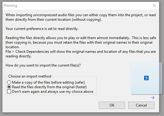 Step one: Import music files into Audacity