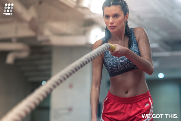 """With its new """"We Got This"""" campaign, Toby's Sports encourages everyone to hold on to that rope a little tighter and not give up on their goals of achieving an active and healthy lifestyle."""