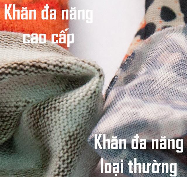phân biệt khăn đa năng loại thường và loại cao cấp