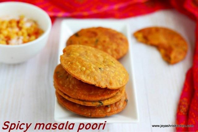 Spicy masala poori