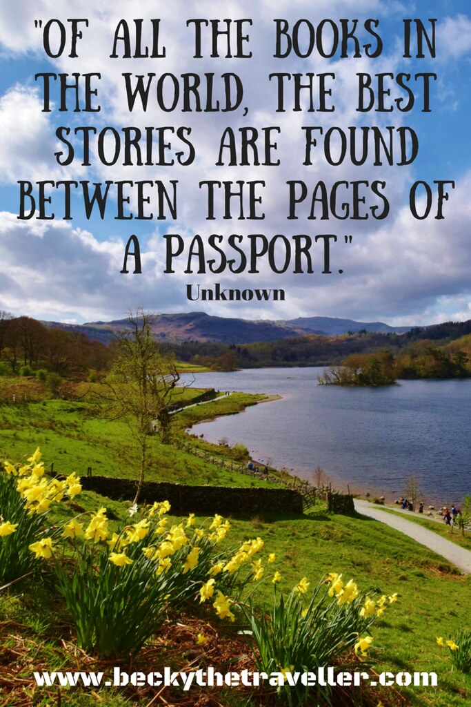 -Of all the books in the world, the best stories are found between the pages of a passport.- - Unknown