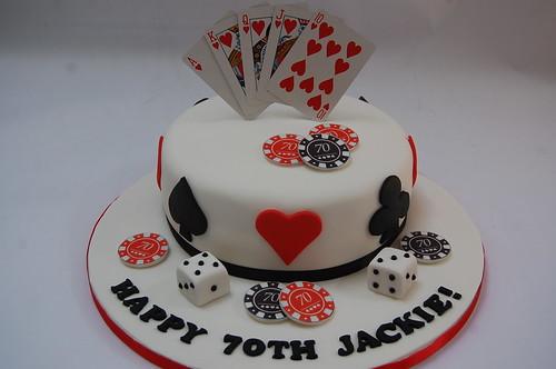 Poker Happy Birthday Cake